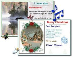 card templates, special effects, create, send, free version, picture, fonts, colors, backgrounds, messages, music, family, friends, relatives