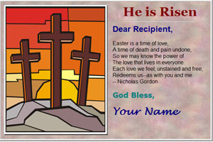 Free Easter Card Pattern - Easter, e-cards, ecards, easter greetings, easter cards, custom, blessings, palm sunday, good friday, lent, easter monday, create ecards