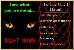 Free Halloween Card Pattern - send, free version, picture, fonts, colors, backgrounds, messages, music, eerie, ghostly, horror