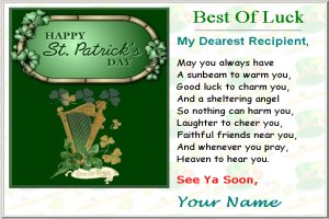 Free St. Patrick's Day Card Pattern - St. Patricks Day, irish, e-cards, St. Patrick's Day ecards, St. Patrick's Day greetings, custom, create ecards, greeting card, card templates