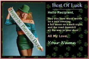 Free St. Patrick's Day Card Pattern - free version, picture, fonts, colors, backgrounds, messages, music, friends, loved ones, special day, lucky, irish music, festive, St. Patrick's Day quotes, St. Patrick's Day sayings, inspirational quotes